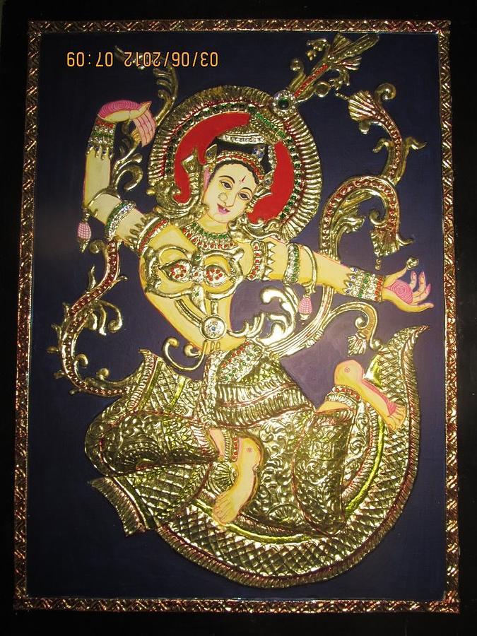 Tanjore Relief - Goddess Tara by Asha Nayak