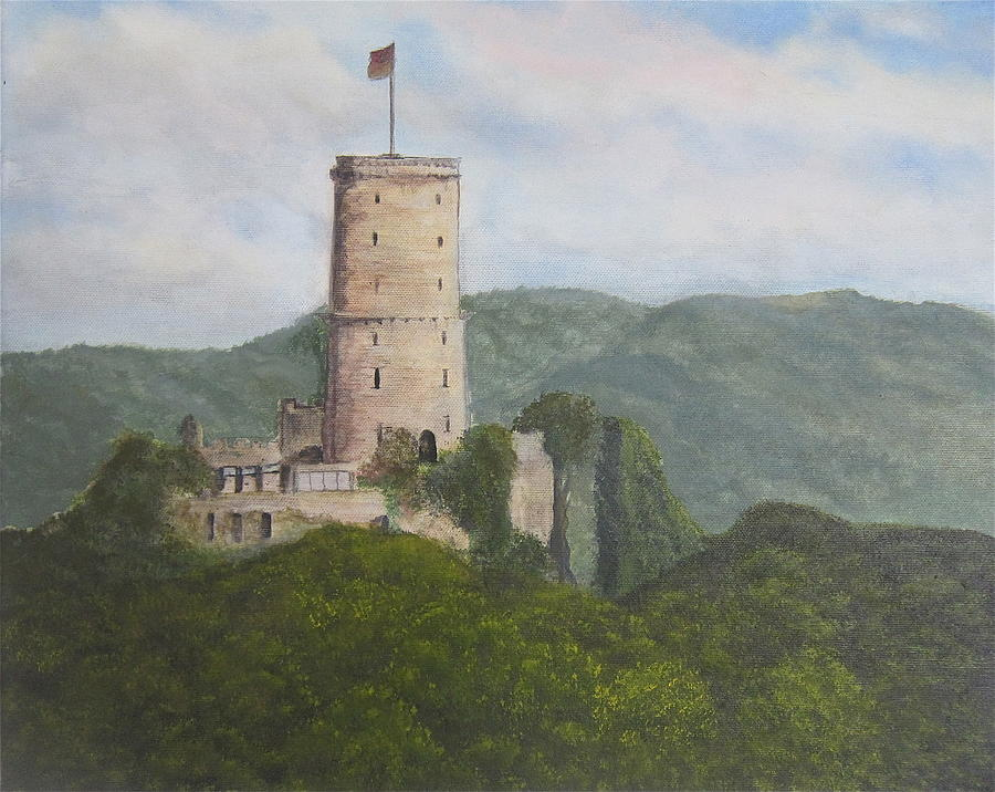 Landscape Painting - Godesburg Castle by Heather Matthews