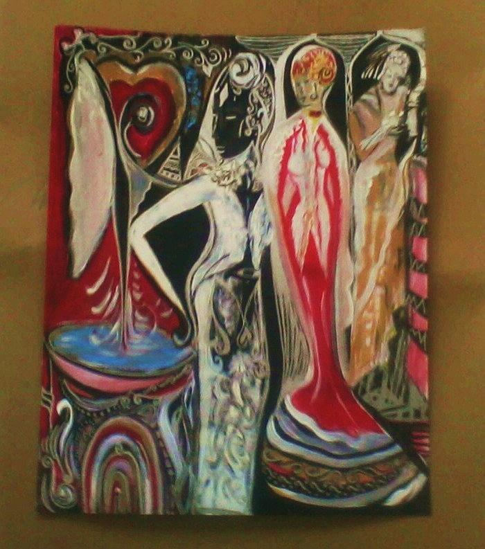 Beauty Painting - Godess Grace by Crystalin Ian