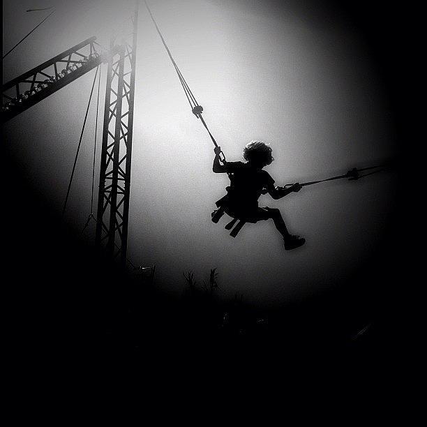 Noir Photograph - Going Bungy by Robbert Ter Weijden