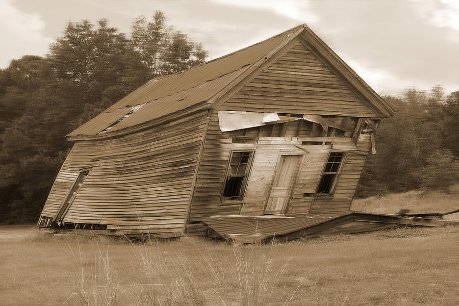Old Building Photograph - Going Down by Mike McGlothlen