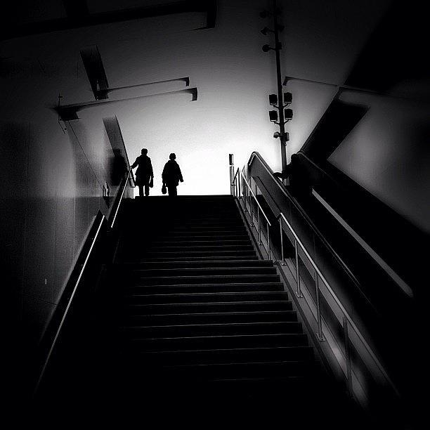 Blackandwhite Photograph - Going Down by Robbert Ter Weijden