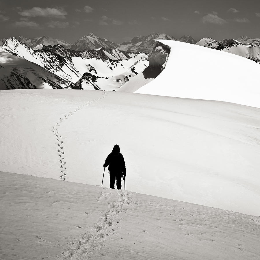 Alone Photograph - Going Forward by Konstantin Dikovsky
