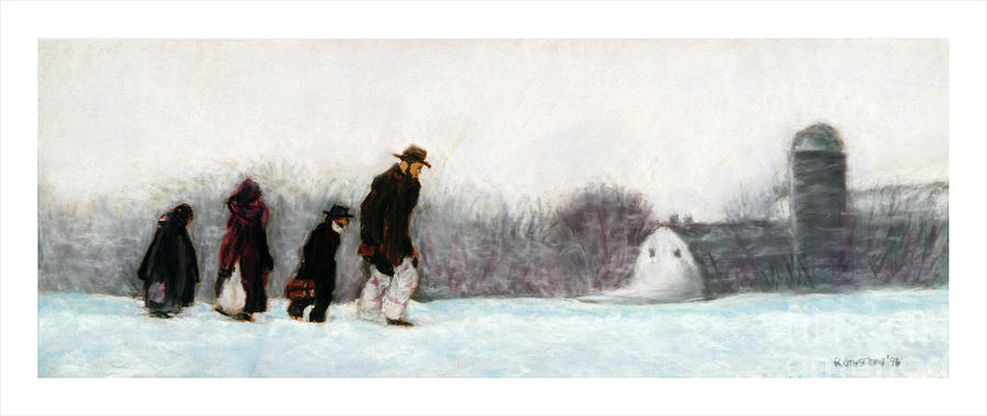 Winter Pastel - Going Home by Barry Rothstein