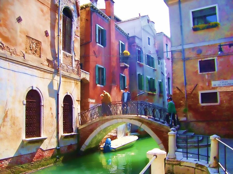Venice Photograph - Going Home Venetian Style by Christiane Kingsley