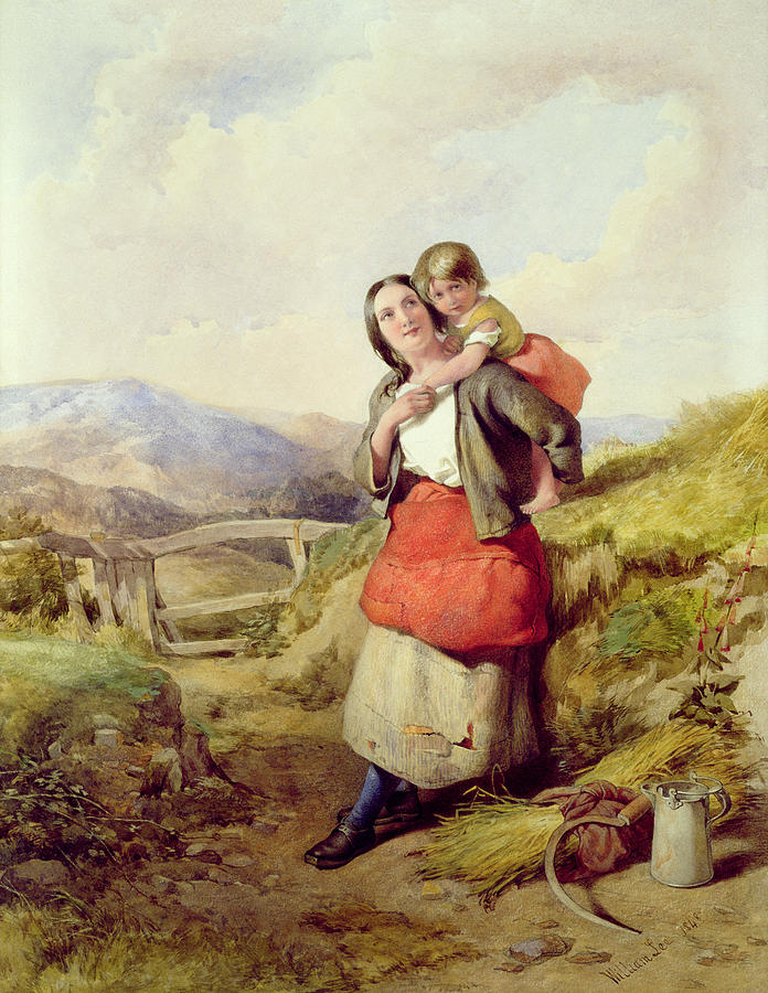 Mother Painting - Going Home by William Lee