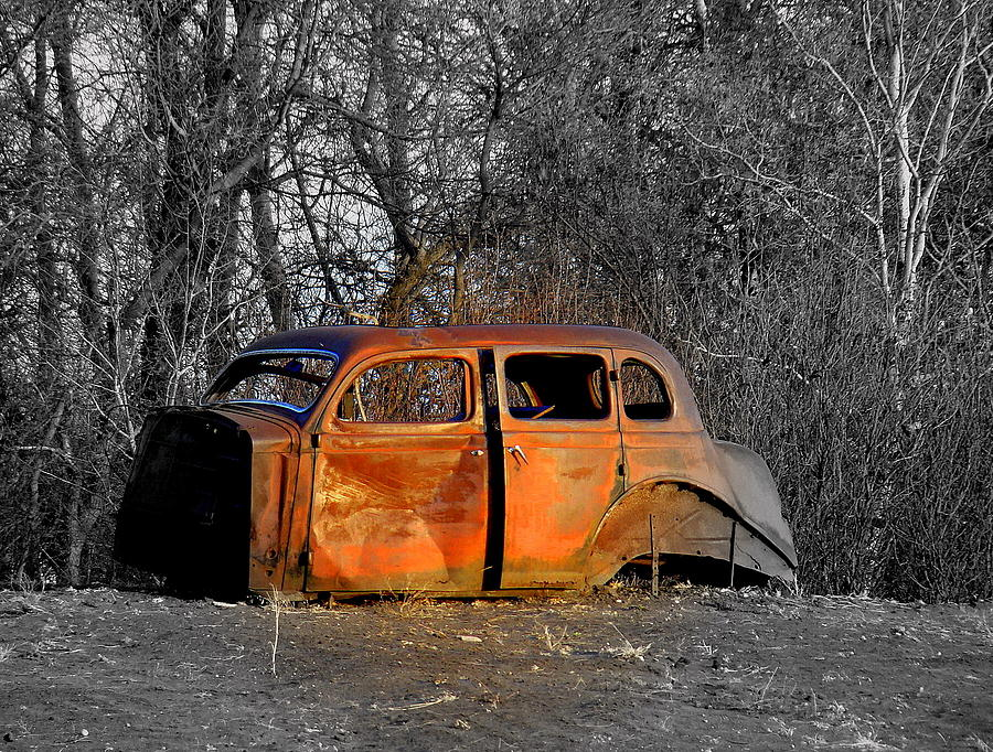 Old Cars Photograph - Going No Where Fast by John Comeau