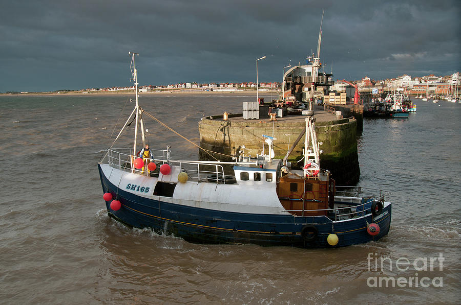 Sea Photograph - Going To Catch Lobsters by David  Hollingworth