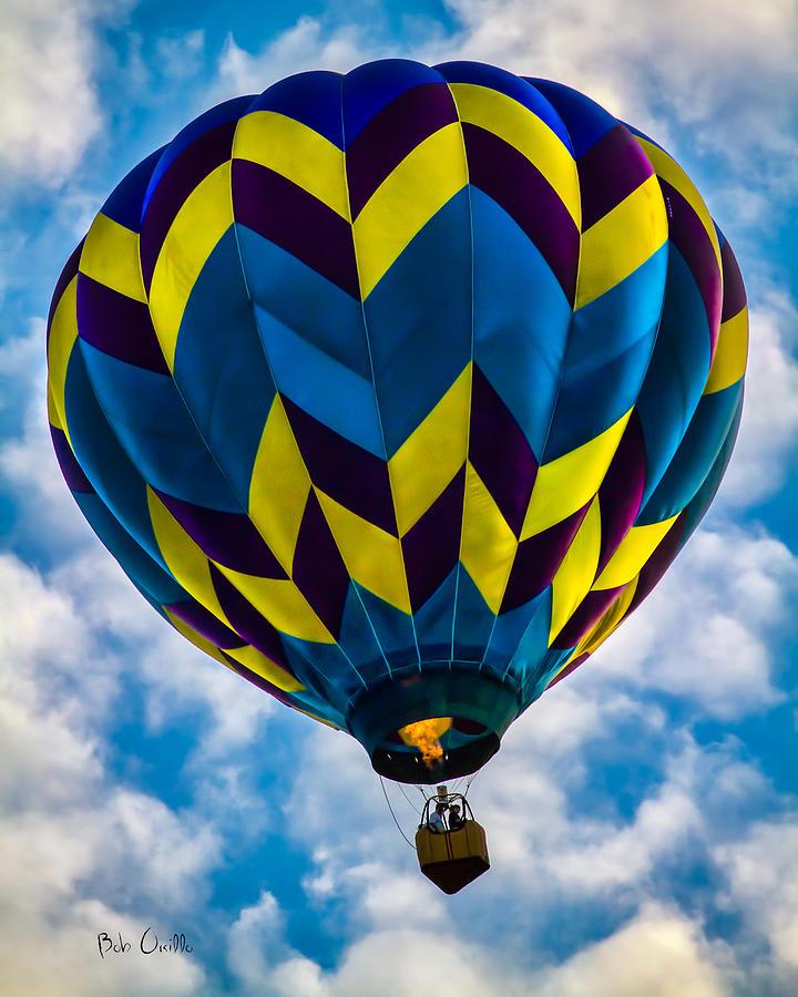 Hot Air Balloon Photograph - Going Up by Bob Orsillo