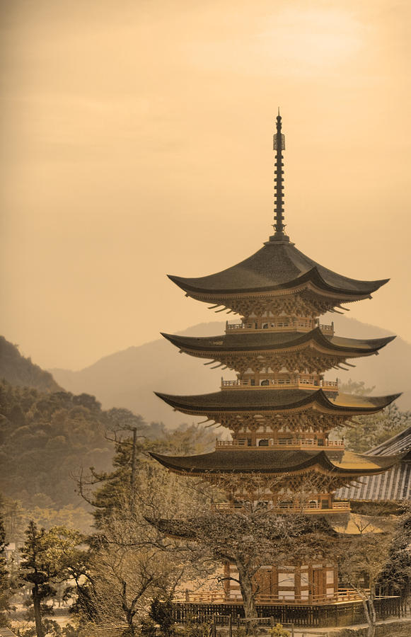 Pagoda Photograph - Goju-no-to Pagoda by Karen Walzer