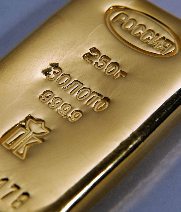 Gold Photograph - Gold Bullion by Ria Novosti