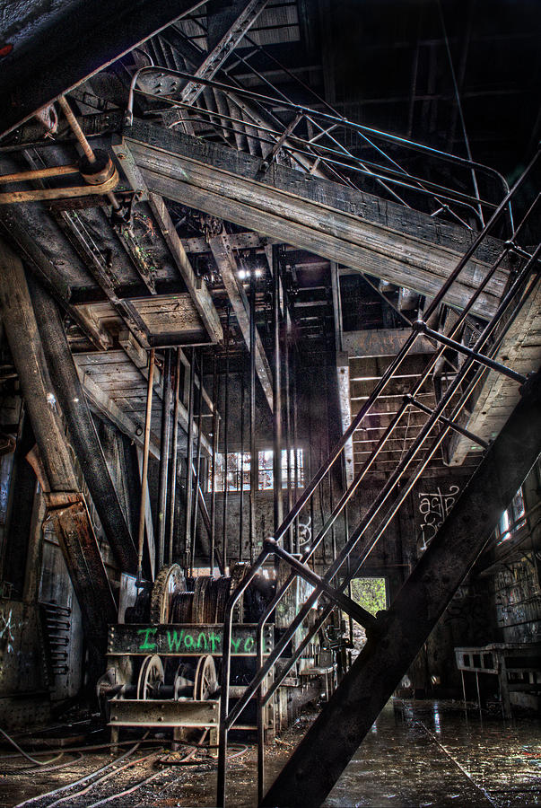 Gold Dredge No 3 Stairway by Thomas Payer