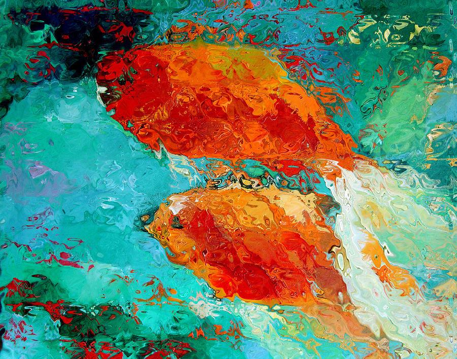 Gold Fish Painting - Gold Fish by Nelya Shenklyarska