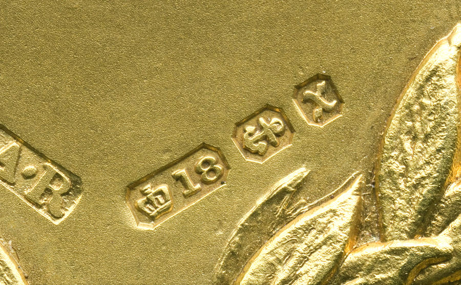 Gold Photograph - Gold Hallmarks, 1897 by Sheila Terry
