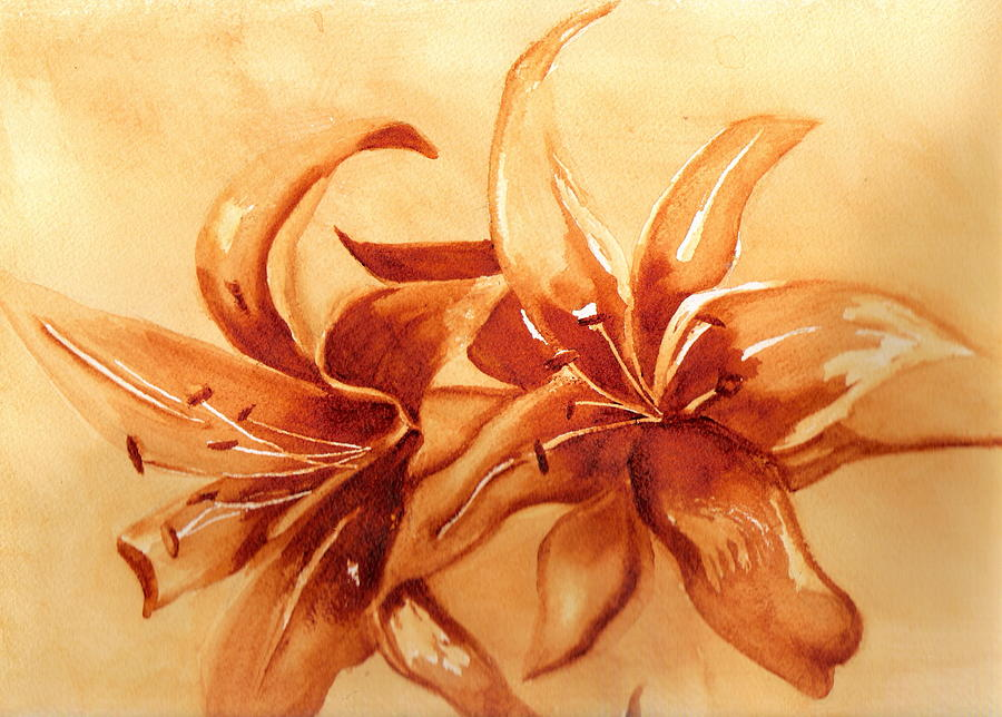 Gold Lilies by Marsha Woods