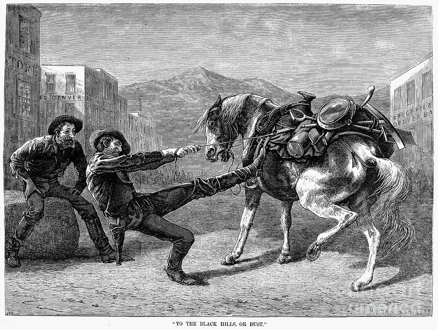 1876 Photograph - Gold Prospectors, 1876 by Granger