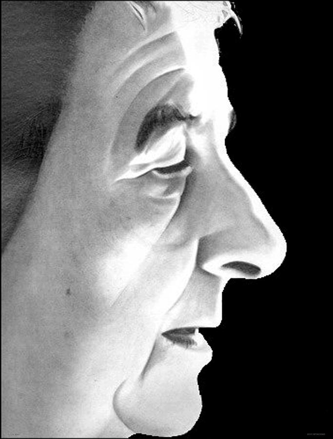 Pencil Drawing - Golda Meir by Michael Yacono