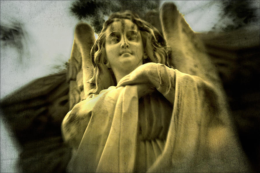 Golden Angel Digital Art - Golden Angel by Diane Dugas