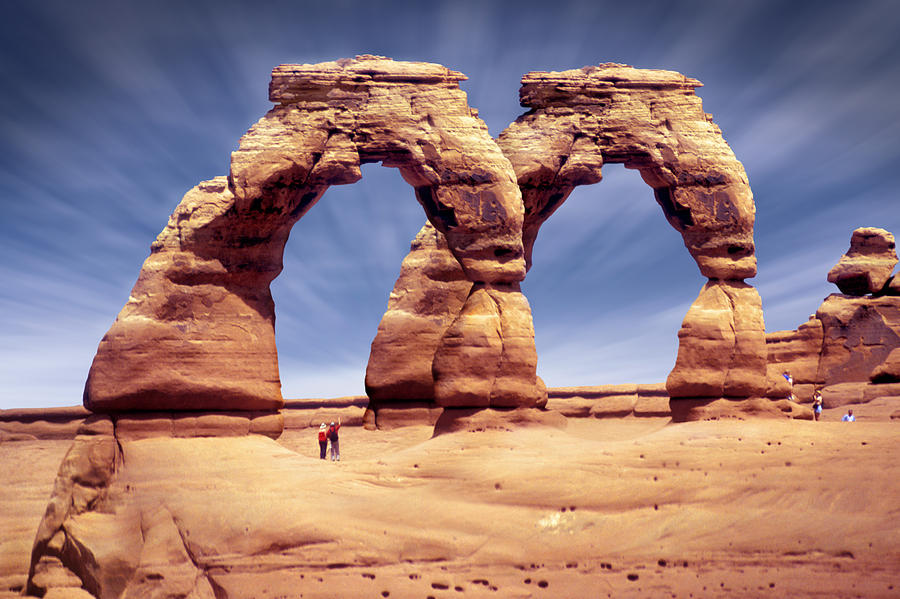 Double Arch Photograph - Golden Arches? by Mike McGlothlen