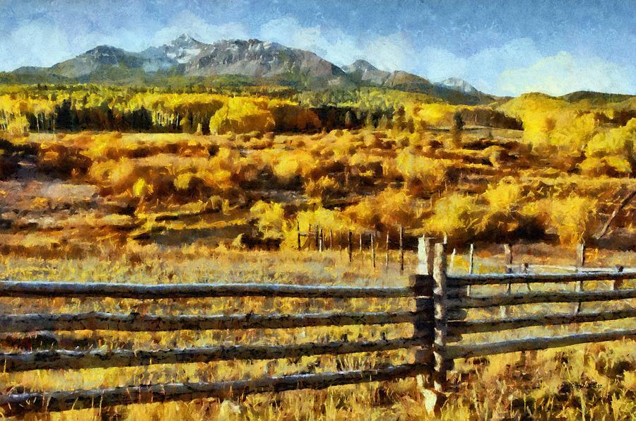 Mountain Painting - Golden Autumn by Jeff Kolker