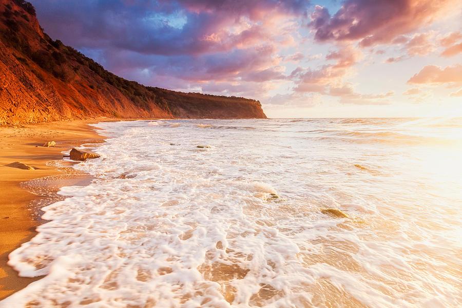 Black Sea Photograph - Golden Bay by Evgeni Dinev