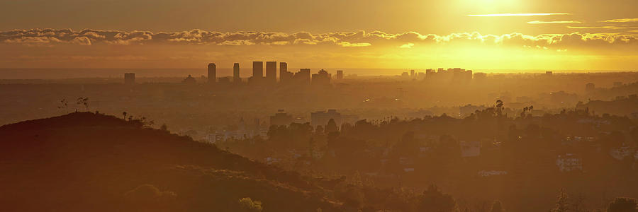 Horizontal Photograph - Golden City by Eric Lo