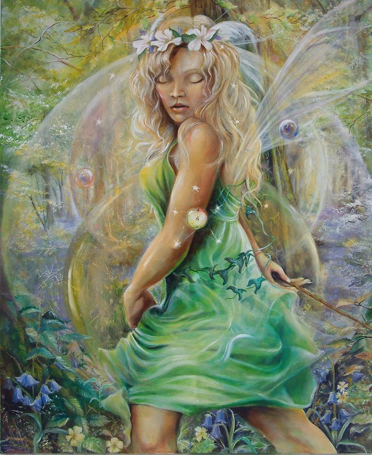 Fantasy Painting - Golden Dawn by Penny Golledge