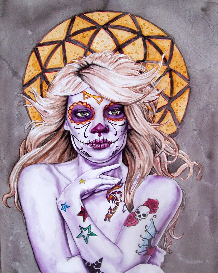 Day Of The Dead Painting - Golden Day Of Day by Diana Shively