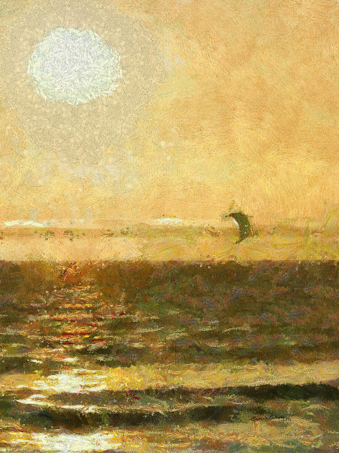 Golden Day Painterly Digital Art - Golden Day Painterly by Ernie Echols