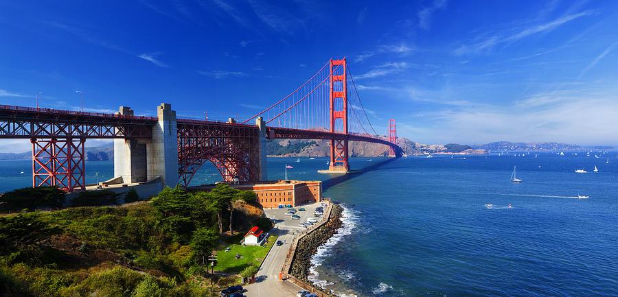 Golden Gate Photograph - Golden Gate Bridge 1. by Laszlo Rekasi