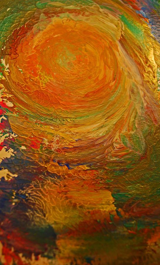 Golden Glow Painting by Gloria Warren