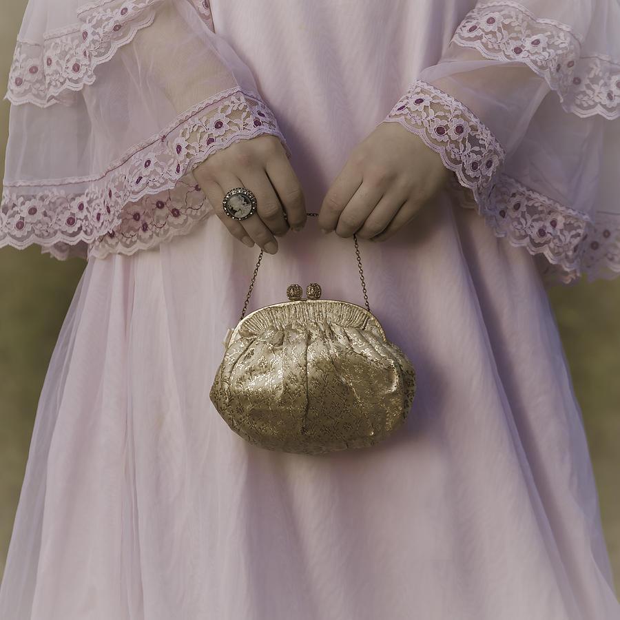 Woman Photograph - Golden Handbag by Joana Kruse