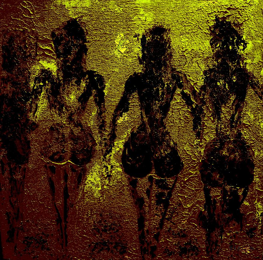 Nudes Painting - Golden Harmony by Piety Dsilva