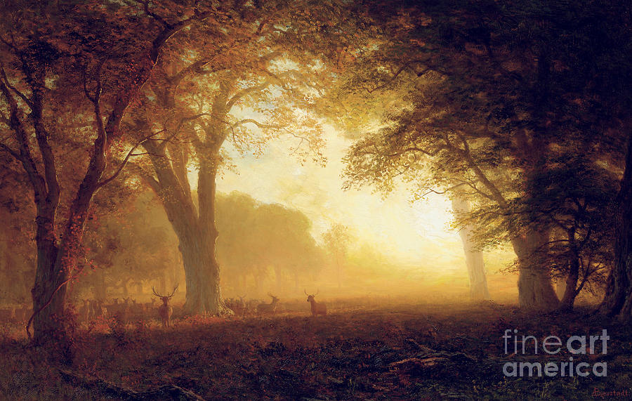 Golden Light Of California Painting By Albert Bierstadt