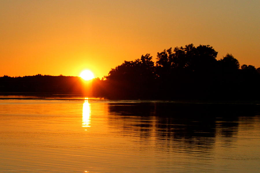 Sunset Photograph - Golden Moment by Mike Stouffer