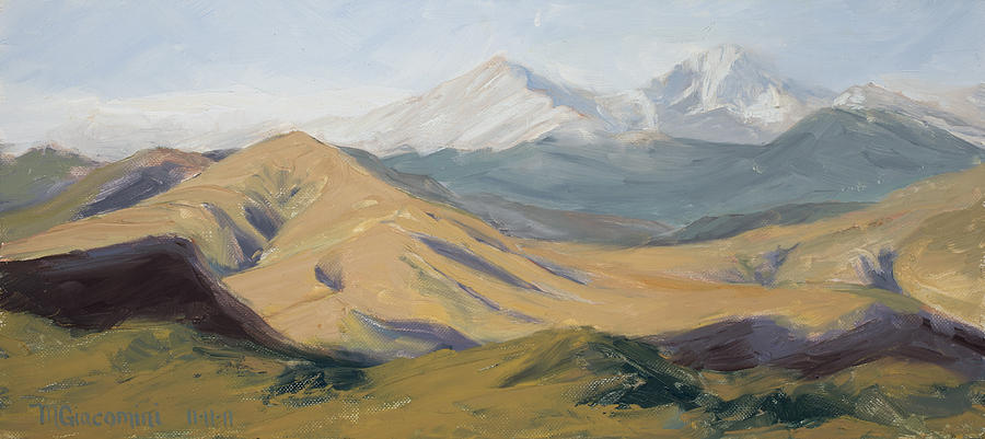 Plein Air Painting - Golden Morning by Mary Giacomini
