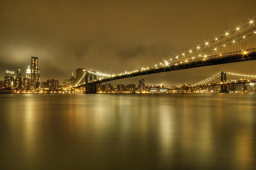 Manhattan Photograph - Golden Night by Evelina Kremsdorf