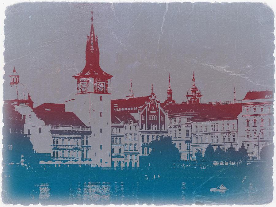 Prague Photograph - Golden Prague by Naxart Studio