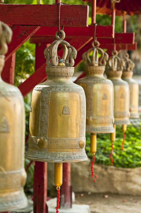 Thailand Photograph - Golden Prayer Bells by Ulrich Schade