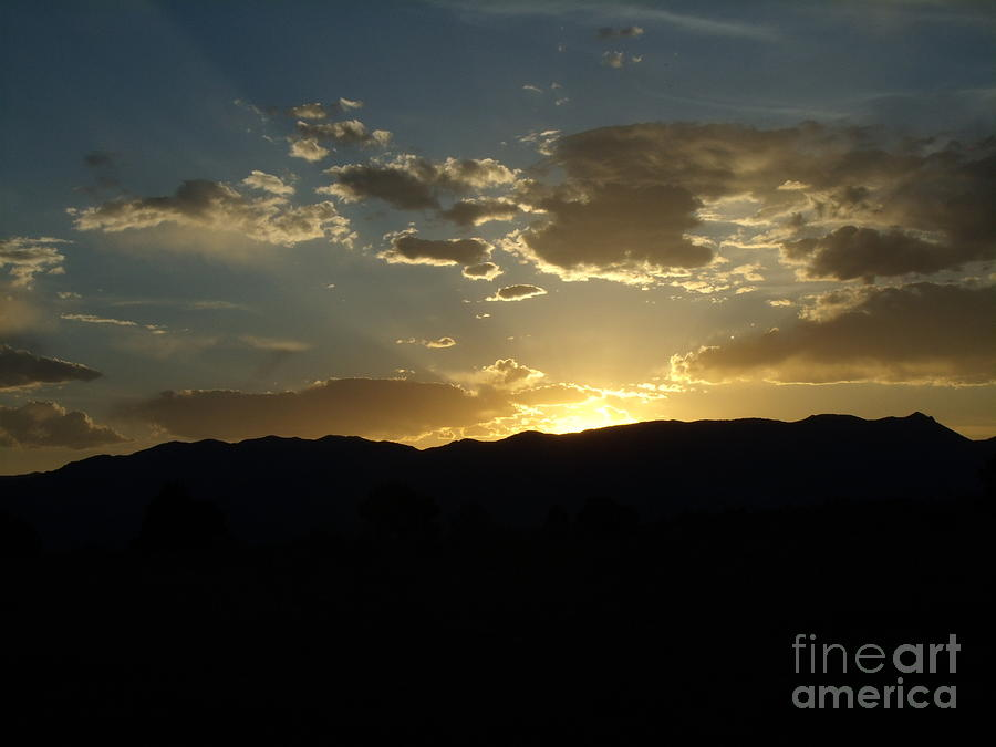 Rocky Mountain Photograph - Golden Rocky Mountain Sunset by Donna Parlow
