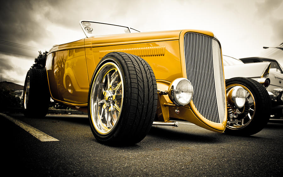 Hot Rod Photograph - Golden Rod by Phil motography Clark