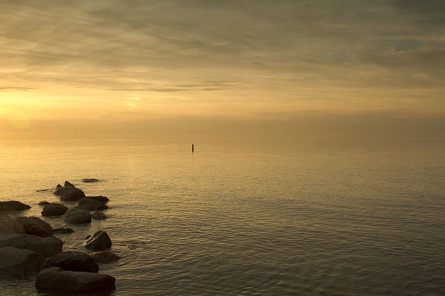 Seascape Photograph - Golden Sea by Bob Retnauer