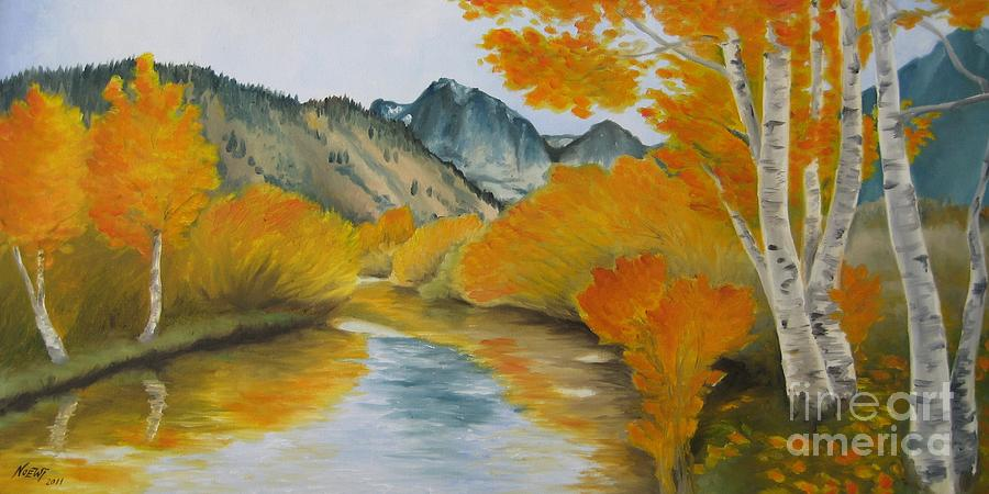 Noewi Painting - Golden Serenity by Jindra Noewi