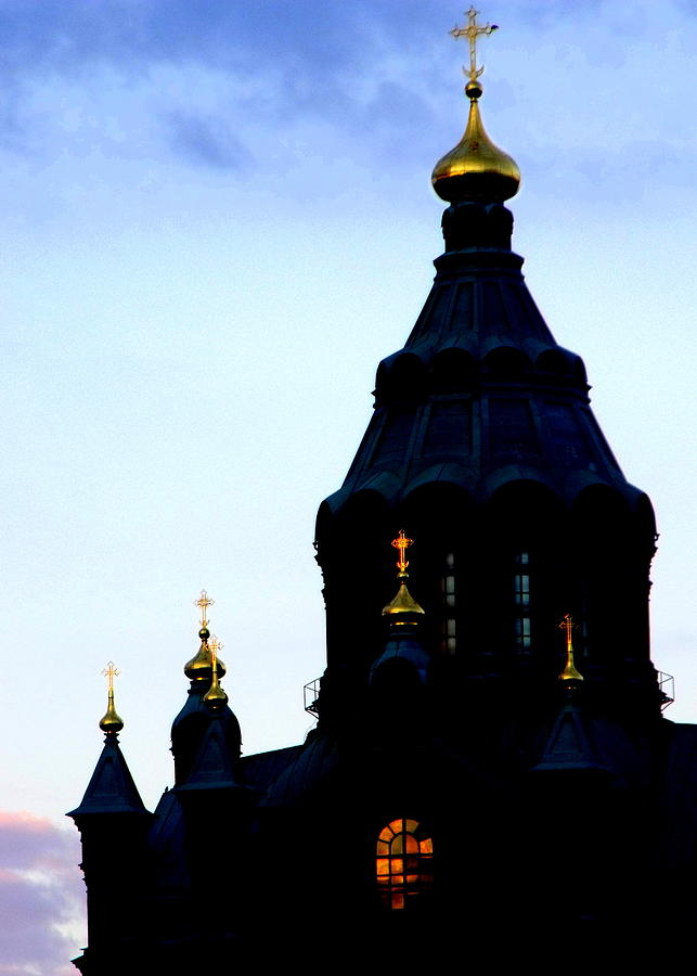 Helsinki Photograph - Golden Spires by Lee Versluis