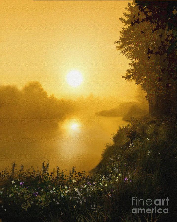 Landscape Painting - Golden View by Robert Foster
