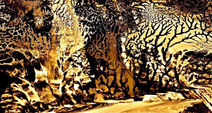 Golden Wonderland Painting by Gloria Warren