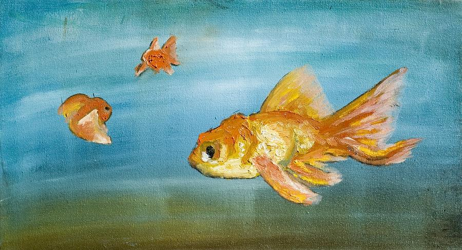 Goldfish Painting - Goldfish by Anthony Cavins