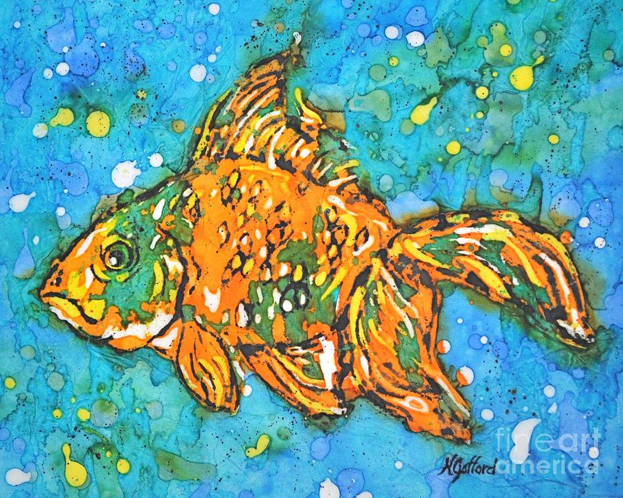 Painting Painting - Goldfish by Norma Gafford