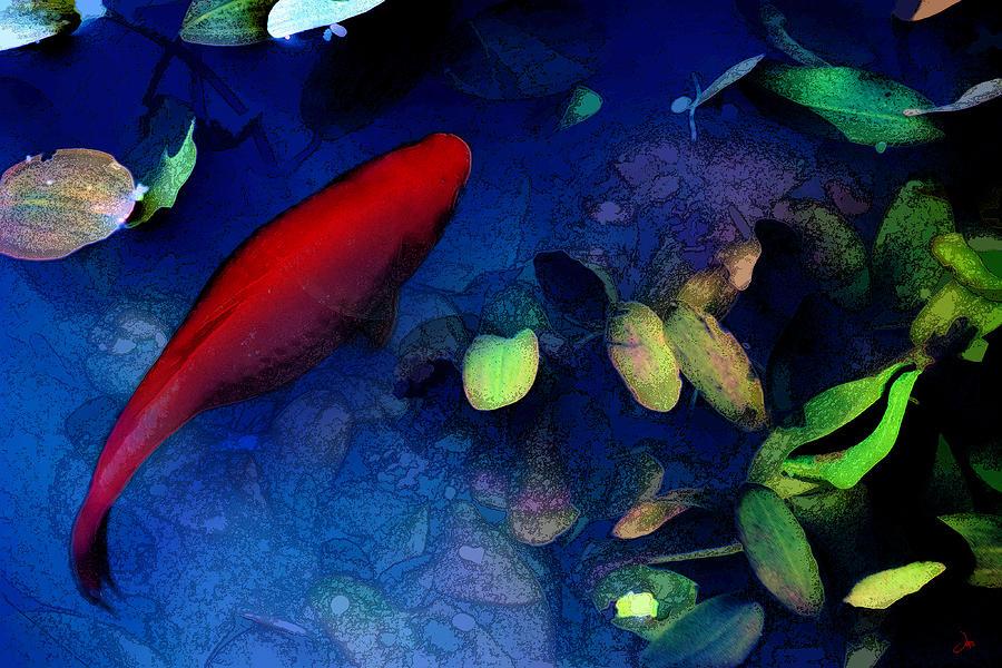 Ron Jones Digital Art - Goldfish by Ron Jones