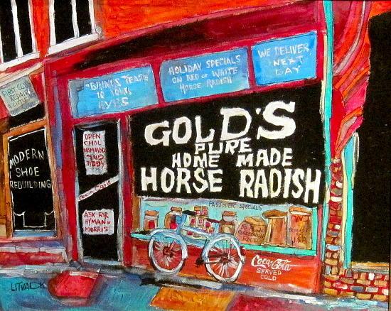 Brooklyn Painting - Golds Horseradish by Michael Litvack
